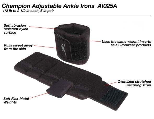5-pound pair Adjustable Ankle Weights